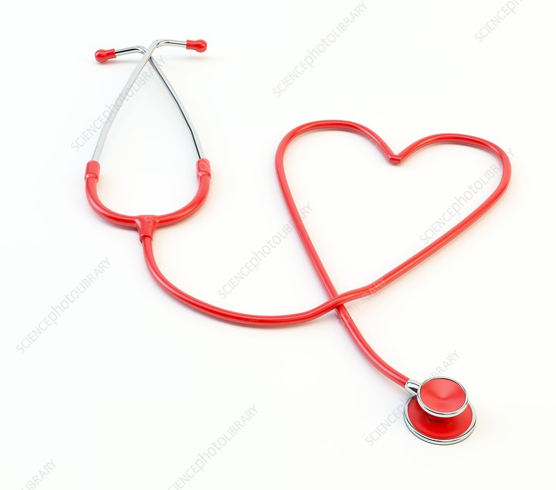 Heart shaped stethoscope, artwork