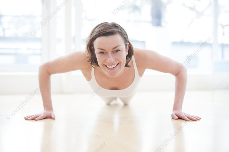 Woman doing press ups