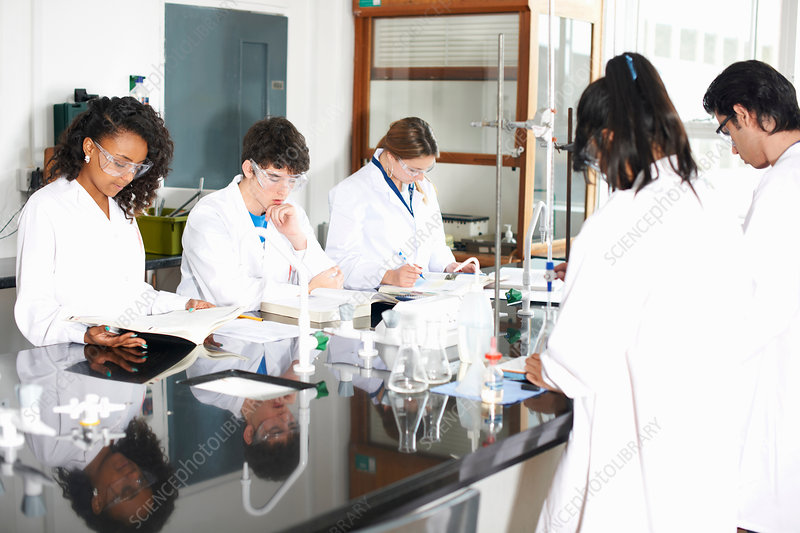 Chemistry students in laboratory