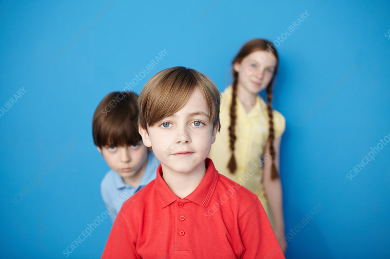 Children looking at camera