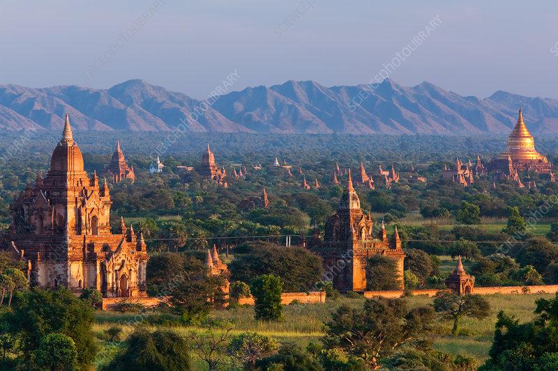 Stupas on the plains of Bagan, Myanmar