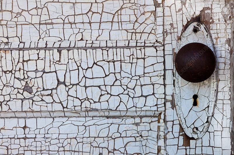 Detail of old door, Shaniko, Oregon, USA