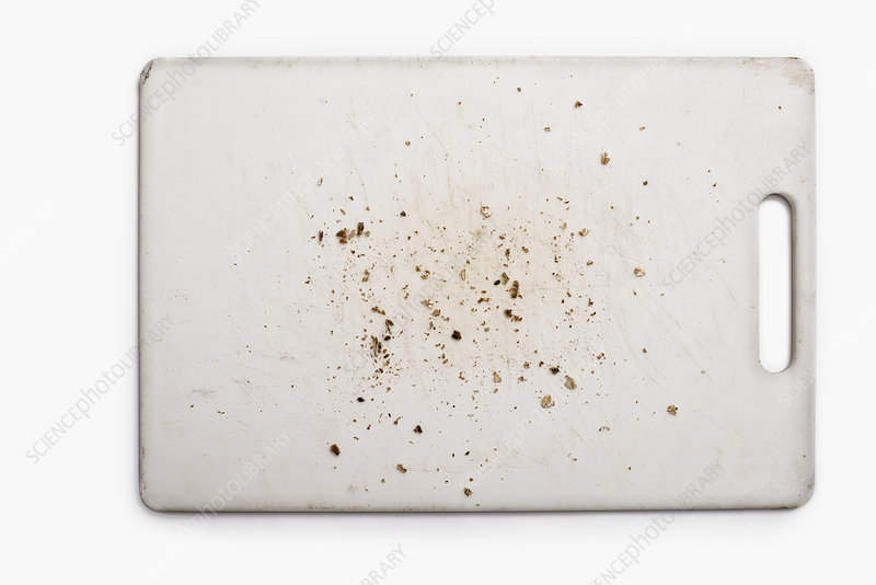 Silicon Cutting Board with bread crumbs