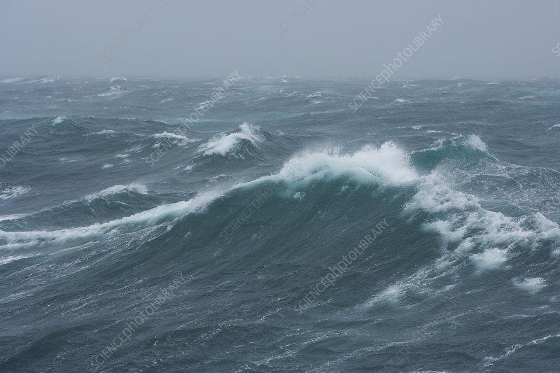 Rough seas near South Georgia Island