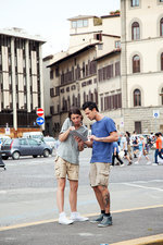 Couple on city break, Florence, Italy