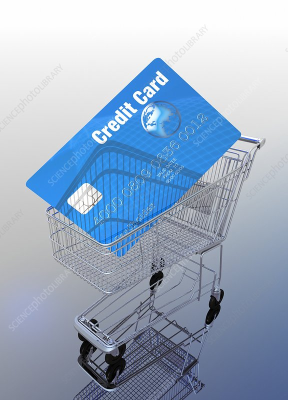 Credit card and trolley, artwork