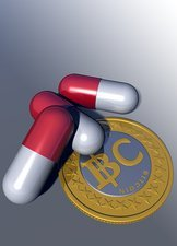 Bitcoin and medicine, artwork