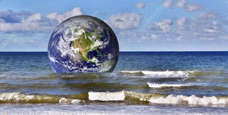 Earth in sea, artwork