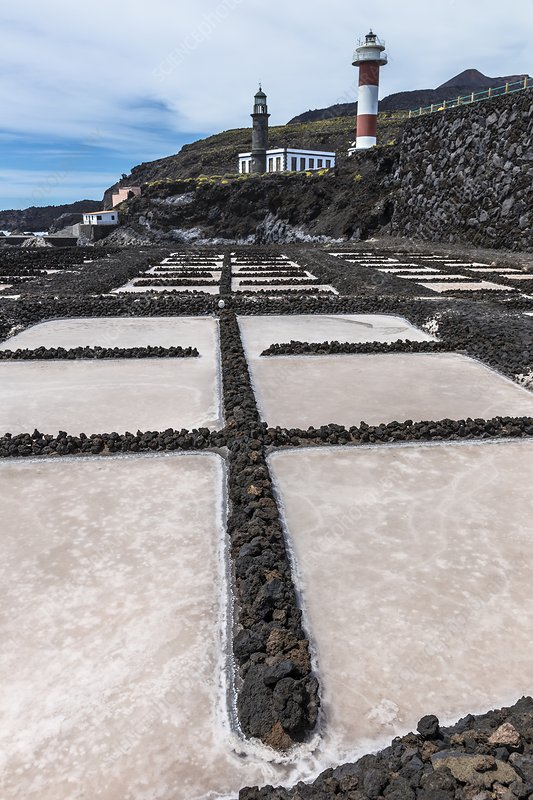 Salt pans, La Palma, Canary Islands