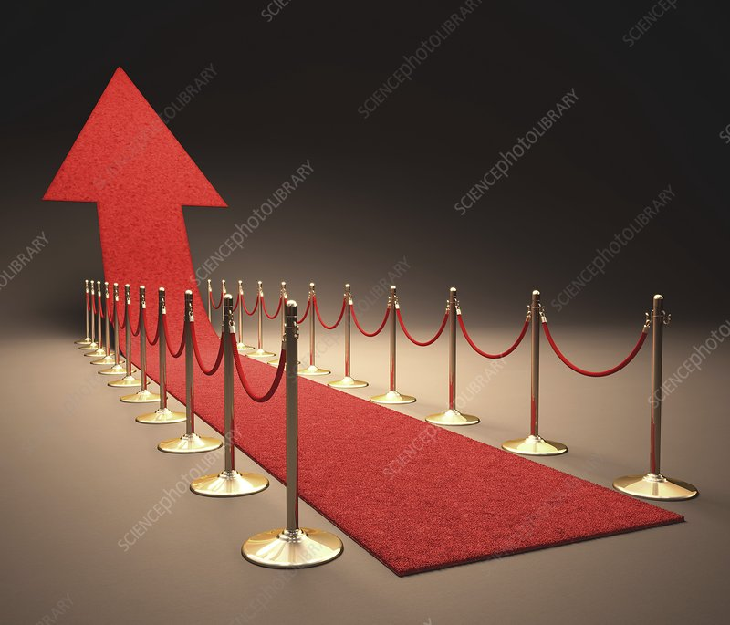 Arrow and red carpet, artwork