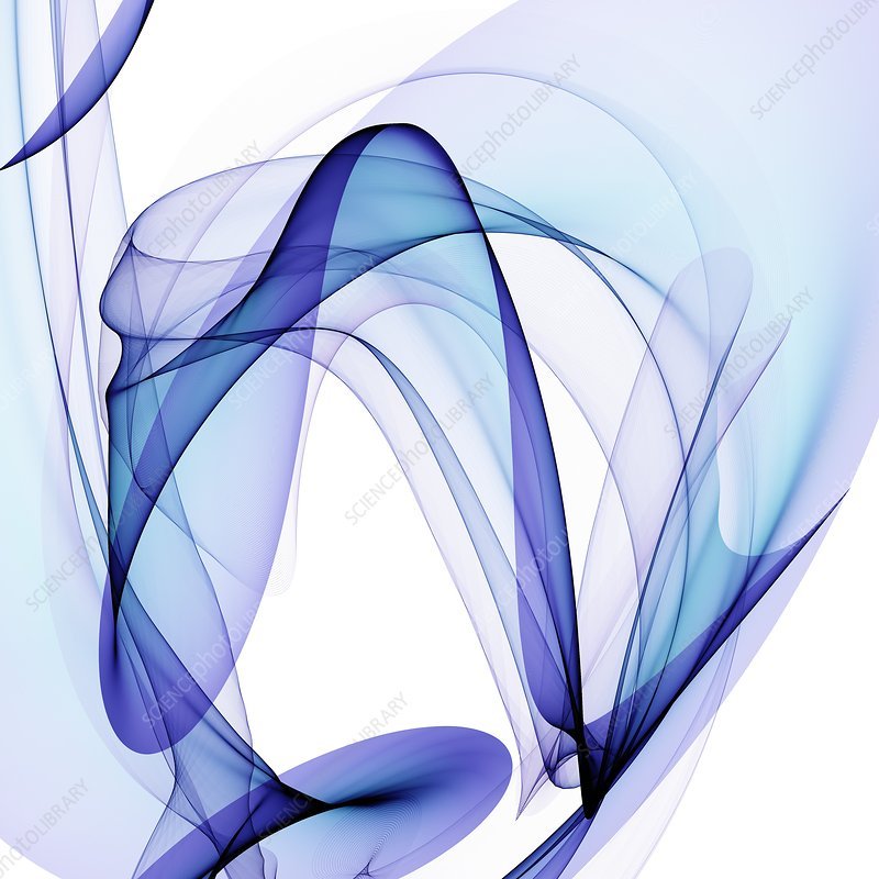 Blue abstract patterns, artwork