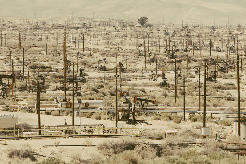Crude oil extraction in oil fields