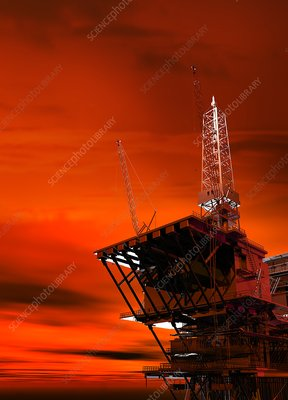 Oil rig, artwork