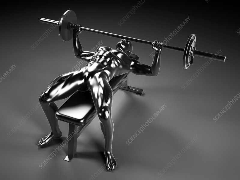 Person weight lifting, artwork
