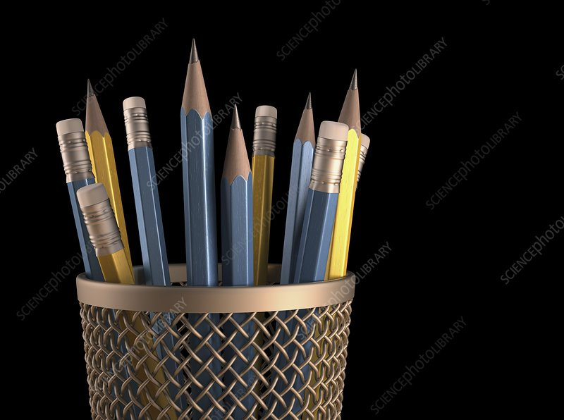 Pencils in a pot, artwork