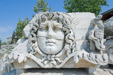 Medusa head, Didyma, Anatolia, Turkey
