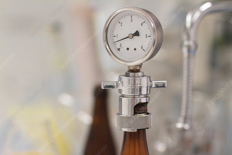 Pressure gauge in brewery