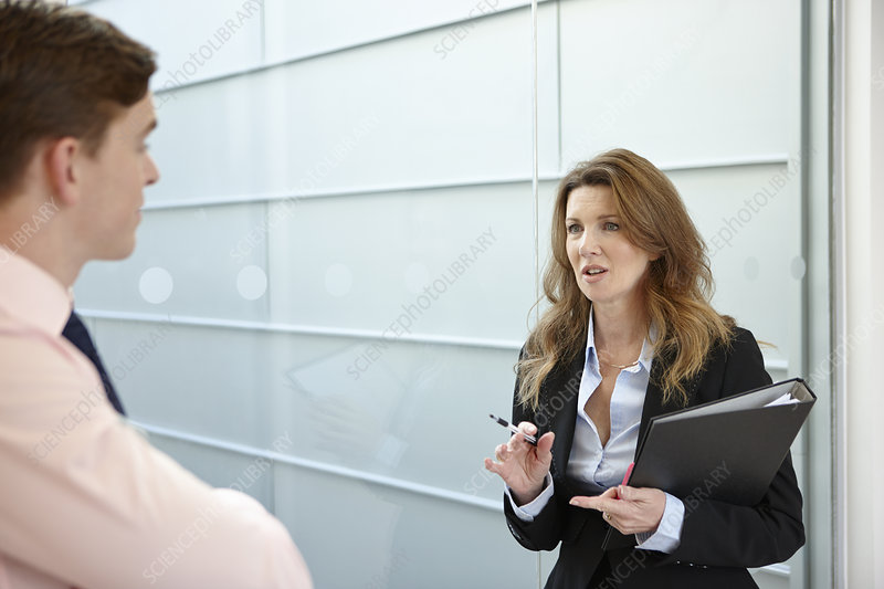 Business colleagues in discussion