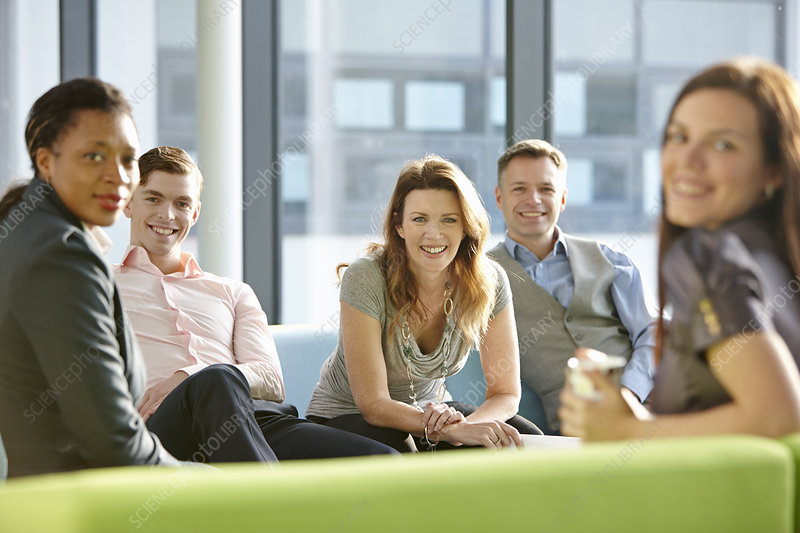 Portrait of business colleagues smiling