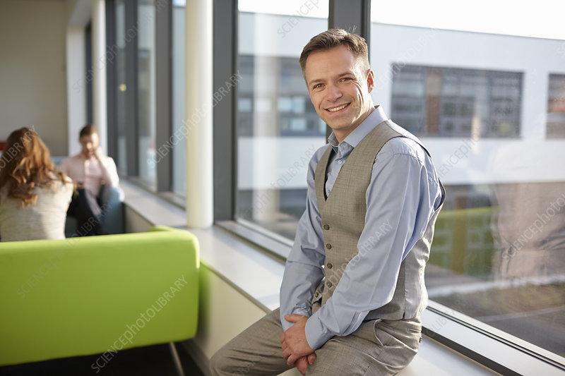 Portrait of mature man wearing waistcoat