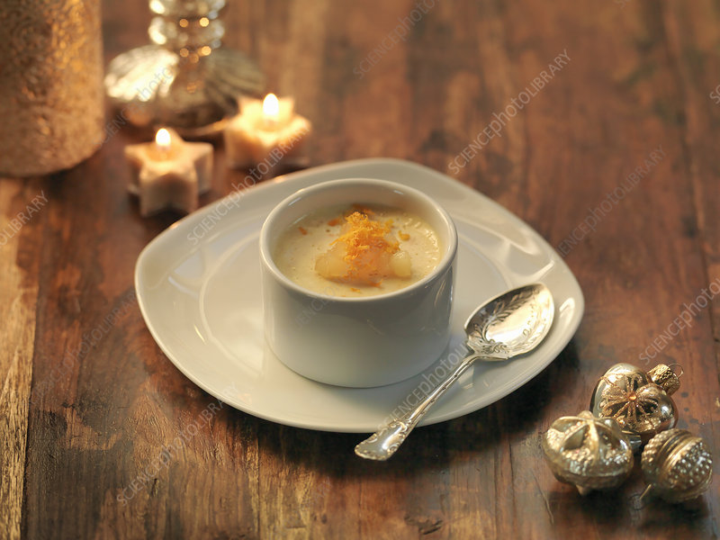 Clementine and ginger posset