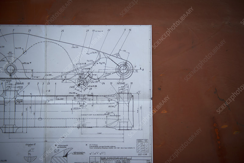Close up of engineering plans