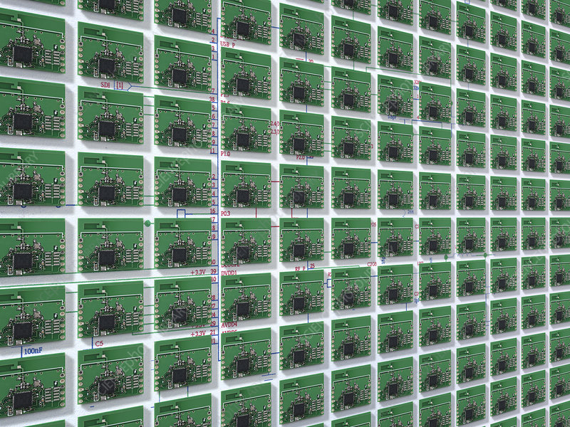 Close up of small circuit boards
