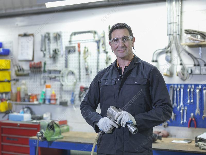 Engineer in engineering factory