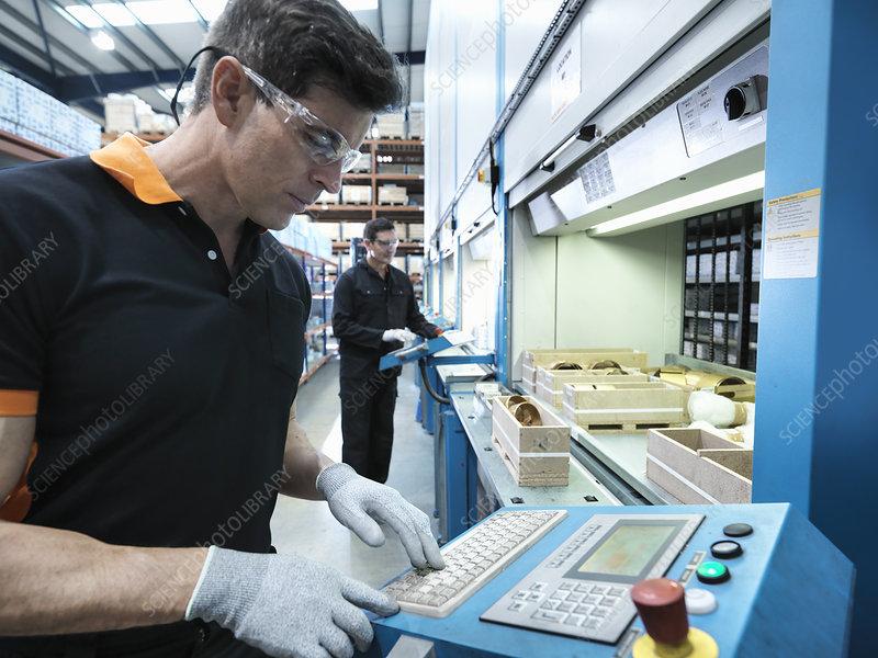 Engineers choosing parts