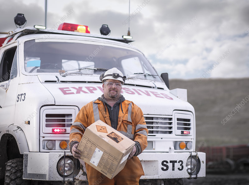 Explosives expert in surface coal mine