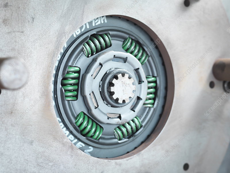 Industrial clutch under test in factory