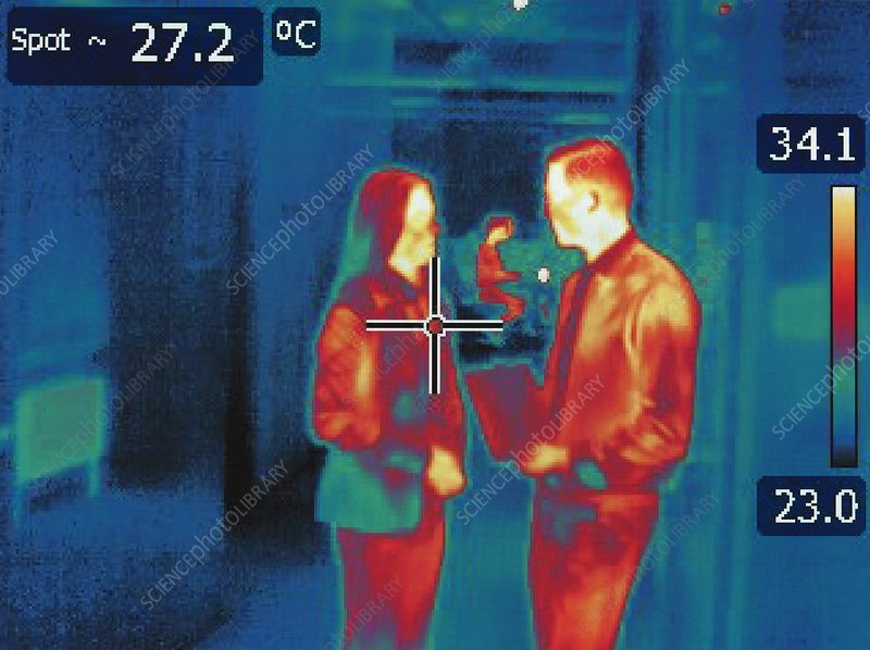 Infrared image of office workers