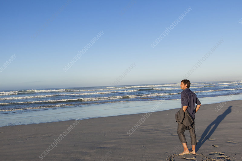 Man enjoying beach