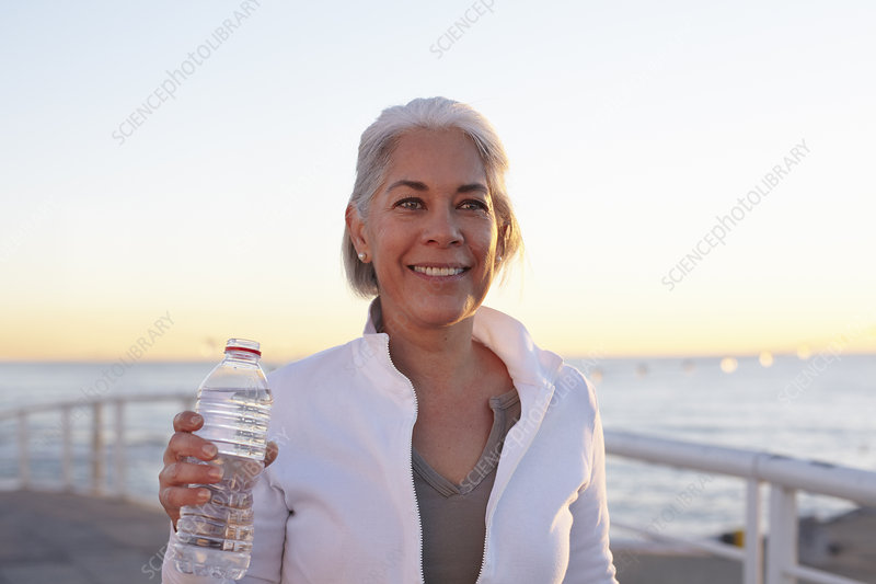 Mature woman on walking exercise