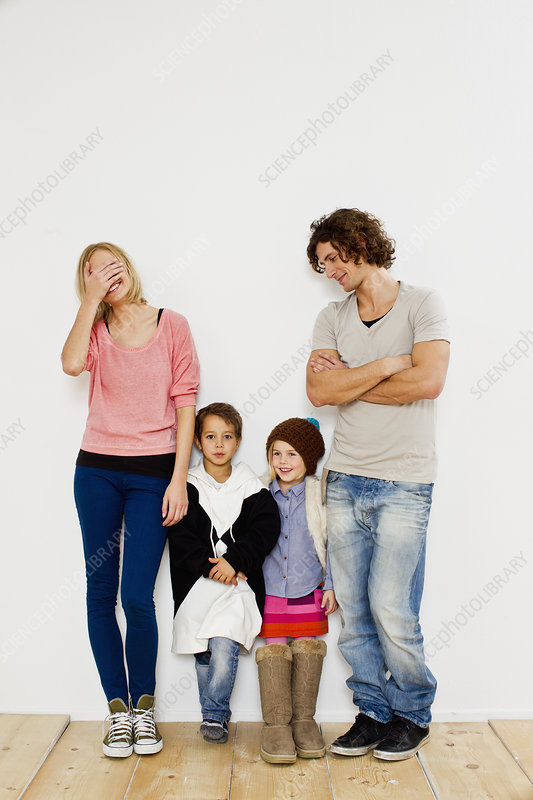 Couple with son and daughter