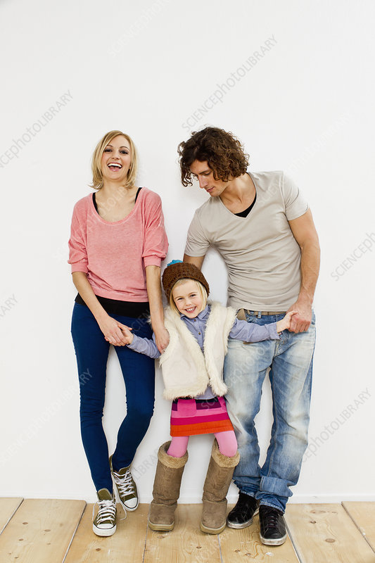 Couple with young daughter