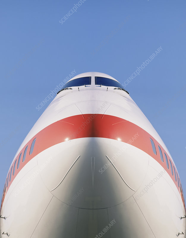 Nose of commercial aeroplane