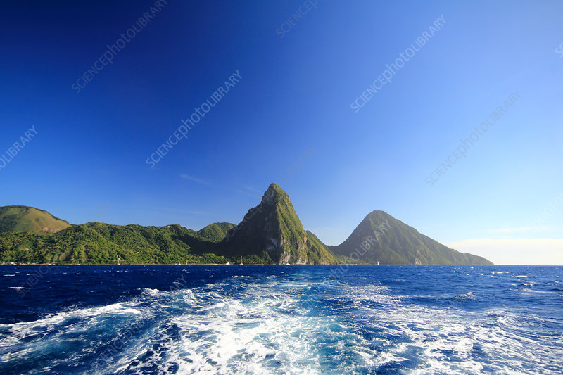Sea and mountains, St Lucia, Caribbean