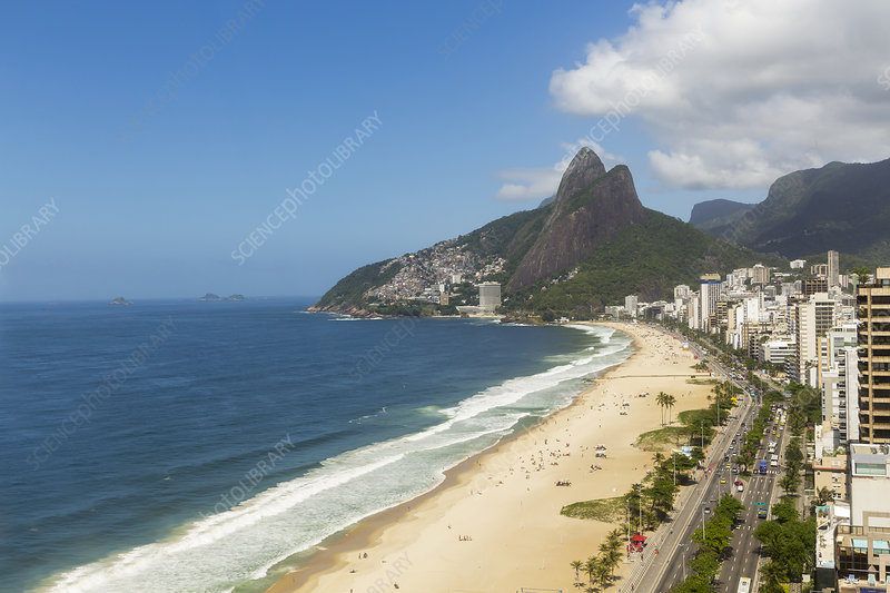 View of Ipanema beach, Brazil