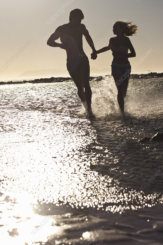 Young couple by seaside