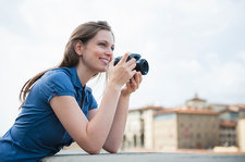 Woman holding camera