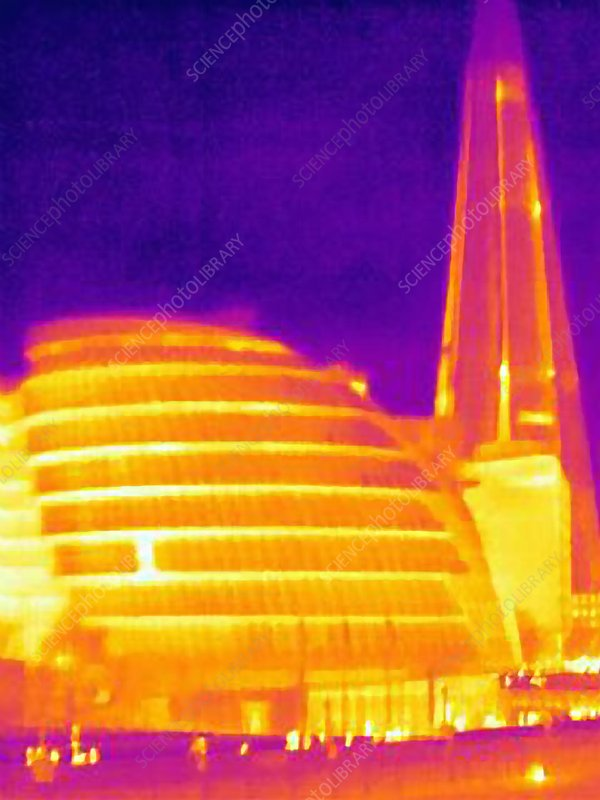 Thermal image of London City Hall, UK