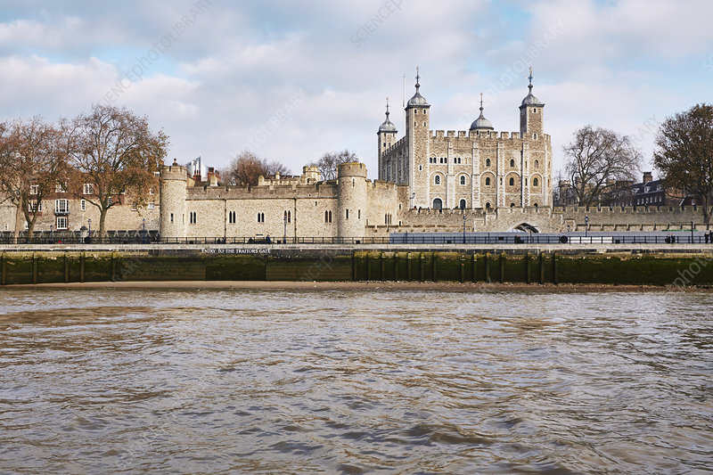 Tower of London and the Thames, UK