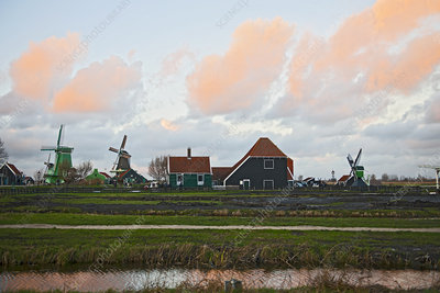 Windmills and traditional houses