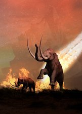 Woolly mammoths and meteor
