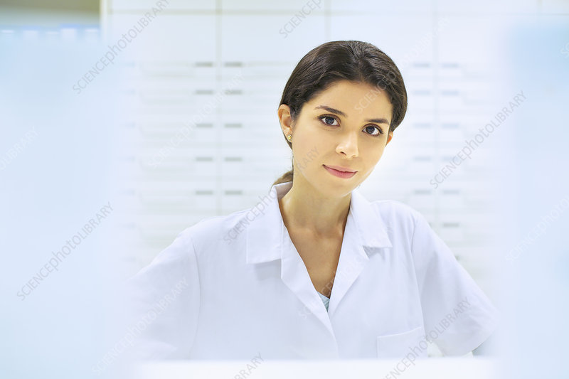 Portrait of pharmacist at work