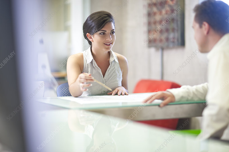 Businesswoman meeting client in office