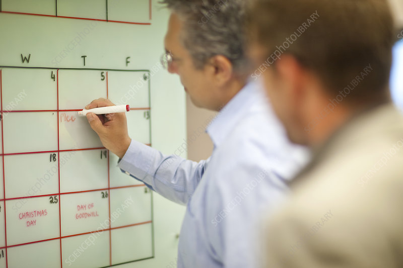 Mature businessman organizing timetables