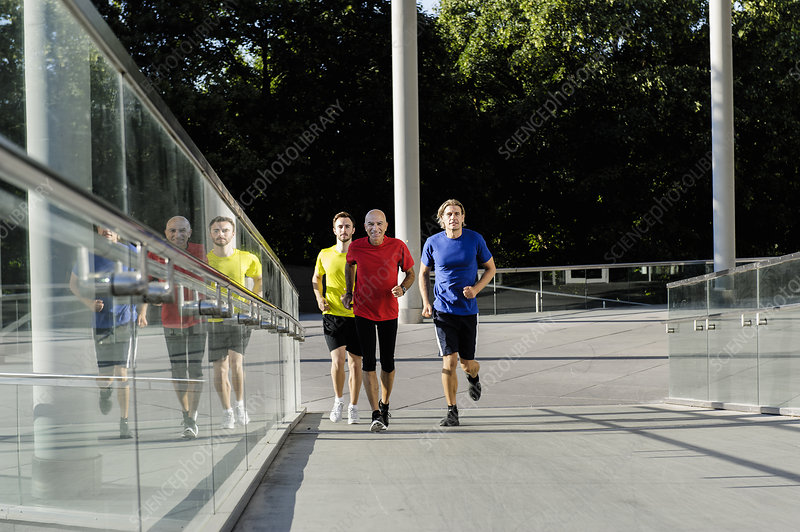 Runner alongside glass balustrade