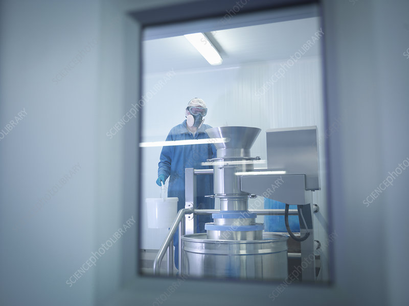 Worker mixing ingredients